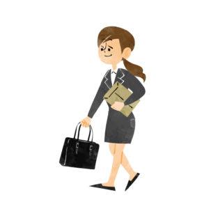 鞄を持つ就活生